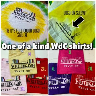 One of a kind t-shirt designs showing your love for Writing.com!