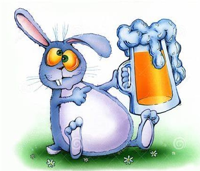 Pub Bunny, That's Apple Juice -- Really!