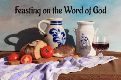 Picture to use in feasting on the word of God