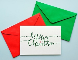 Picture of Christmas card with envelopes