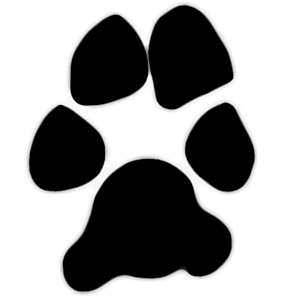 Image of a dogs paw print for use in my items.