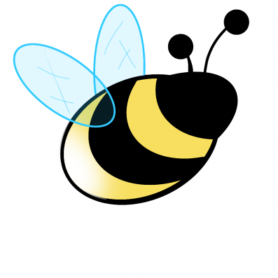 Illustration of a bumblebee