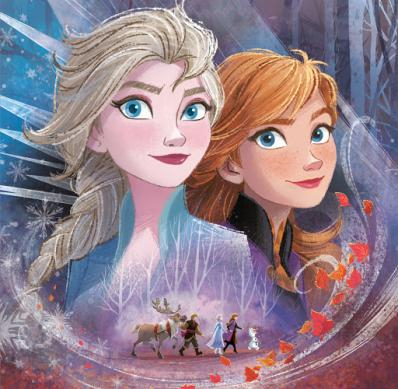 Elsa and Anna image of Frozen.