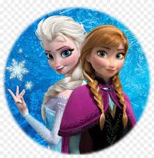 Another image of Elsa and Anna.