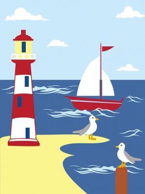 Lighthouse Sail Image ~ Auction