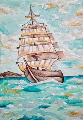 Sailin' Painting Image ~ Auction