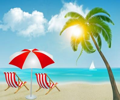Beach Red Sailing Scene Image ~ Raffle
