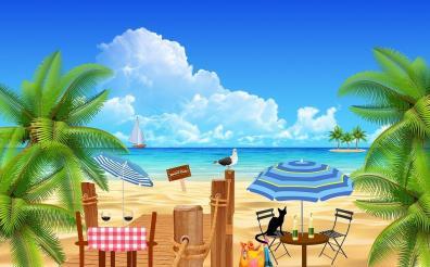Beach and Island Image ~ Raffle