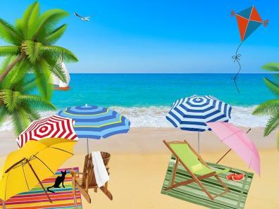 Sandy Beach Image ~ Raffle