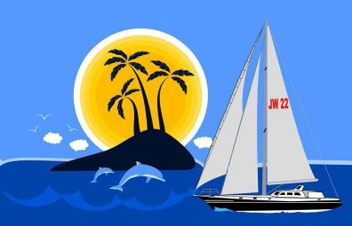 Sailin' Island Image ~ Raffle