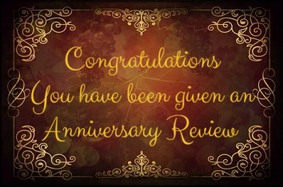 Congratulations on your WdC Anniversary.