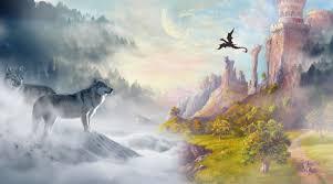 A fantasy landscape.