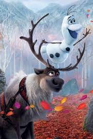Sven and Olaf picture of Frozen.