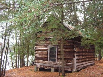 Cabin the woods.