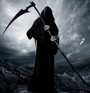 This is an image of The Grim Reaper with scythe.